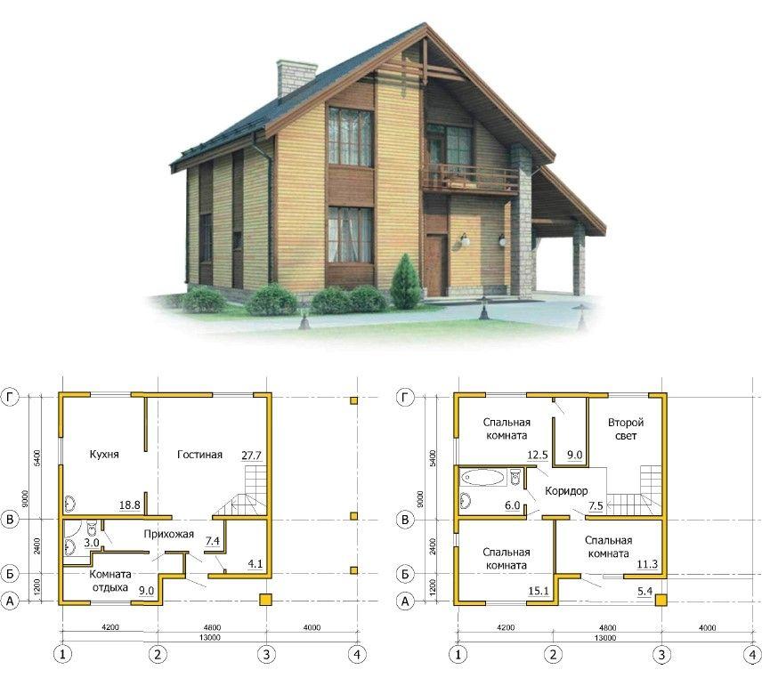 Проект каркасного дома.