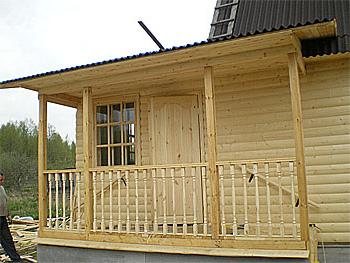 терраса к деревянному дому фото