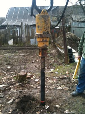 Инструменты для забуривания винтовых свай